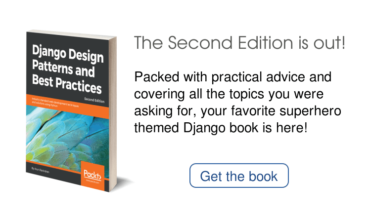 banner ad for Django book