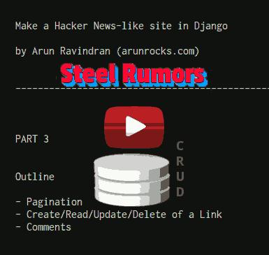 Building a Hacker News clone in Django - Part 3 (Comments