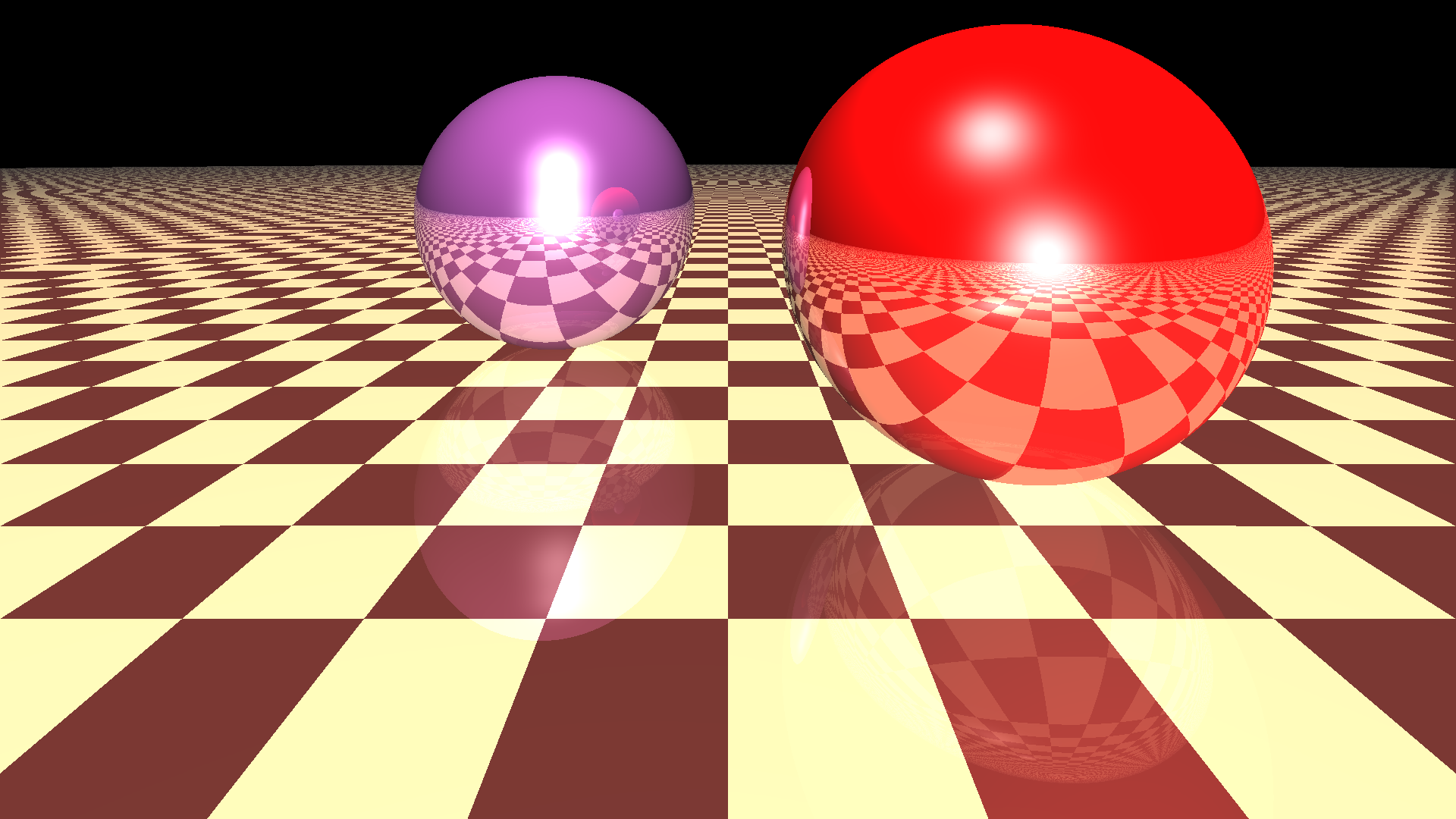 Render of two balls