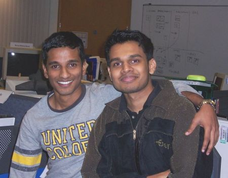 Suneel and Me yesterday (yes, Sunday) at office
